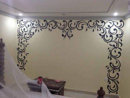 فنى تركيب ورق جدران موبايل 55510703