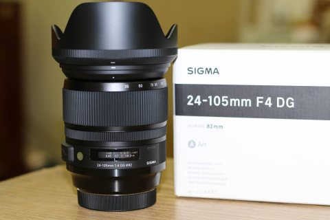 للبيع عدسة :- Sigma 24-105mm F4 DG OS HSM Art Lense for Canon