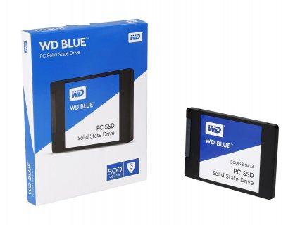 هارد ديسك إس إس دي سريع للكمبيوتر (لابتوب أو مكتبي)  WD Blue 500GB PC SSD