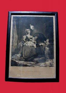 لوحه متحفيه قديمه للملكه ماري انطوانيت 1904