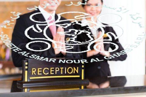 من جنسية مغربية و تونسية موظفين وموظفات إستقبال عبر شركة الاسمر للإستقدام