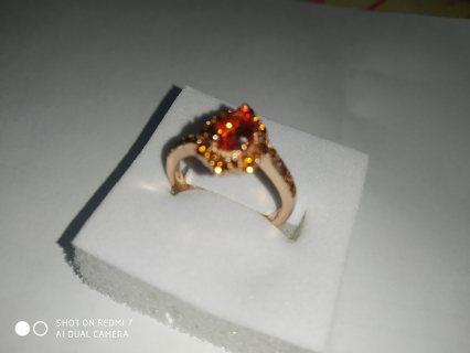 خاتم من الزفير البرتقالي