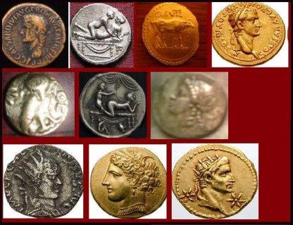 لهواة العملاة القديمة للبيع مجموعة عملاة رومانية قديمة