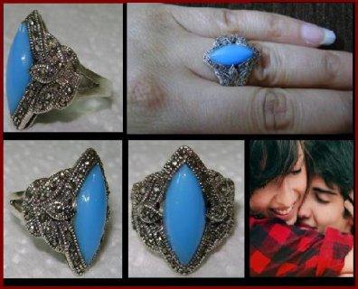 للبيع خاتم فيروز الباهاما النادر , خاتم الحب