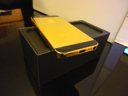 Apple iPhone 5S 24Carat 64GB Gold Arabic Menu (BBM: 271E4824)